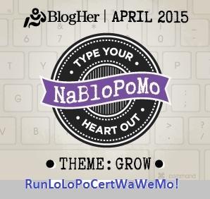 My April blogging logo
